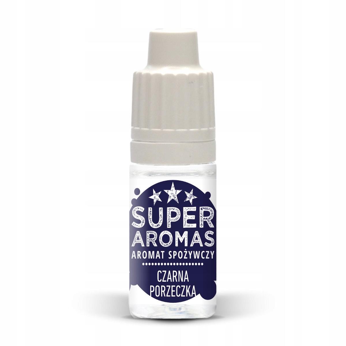 SUPER AROMAS Aromat spożywcz czarna porzeczka 10ml