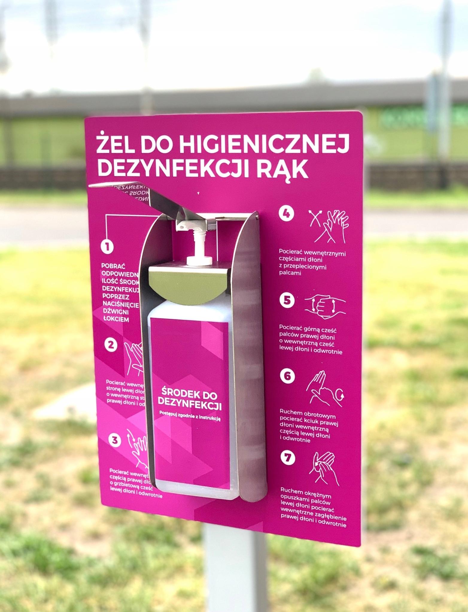 Диспенсер для дезинфекции локтей INOX 1л + подставка