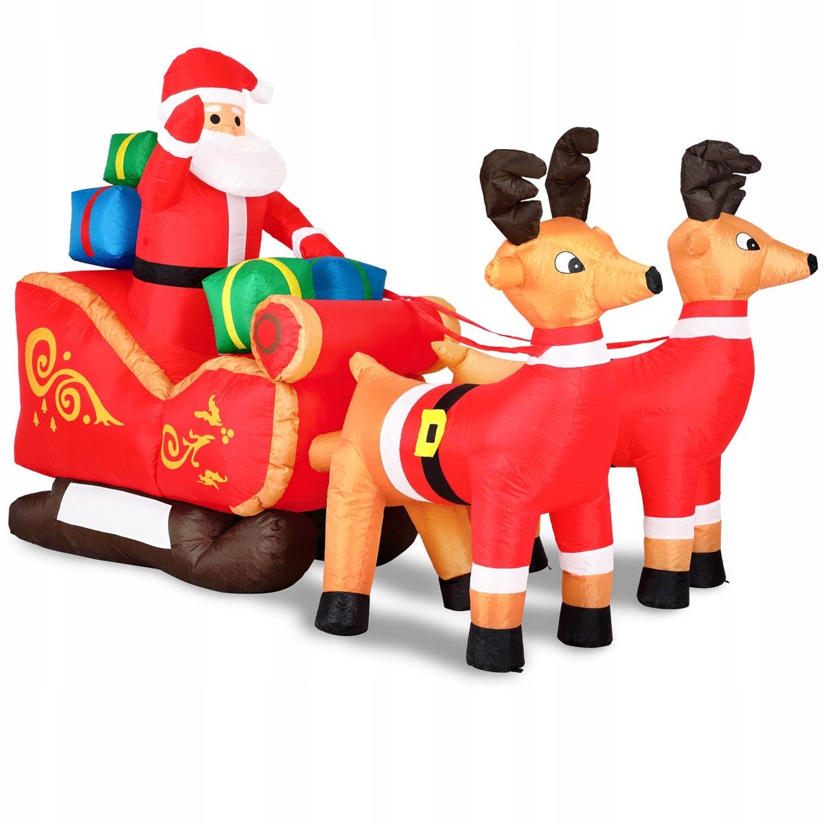 Дед Мороз НАДУВАННЫЙ ДЕКОРАТИВНЫЙ РУКАВ ОЛЕНЬ