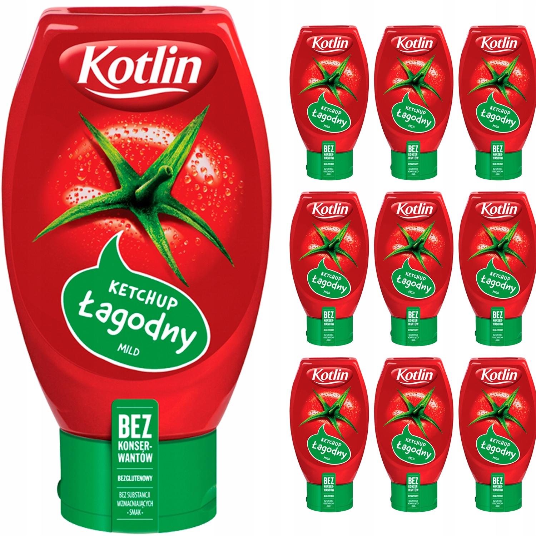 Kotlin Ketchup pomidorowy łagodny 10x450g