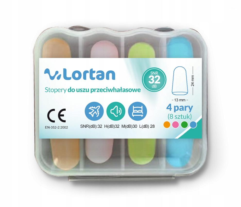 Item Lortan earplugs ear foam 8 pieces + FREE