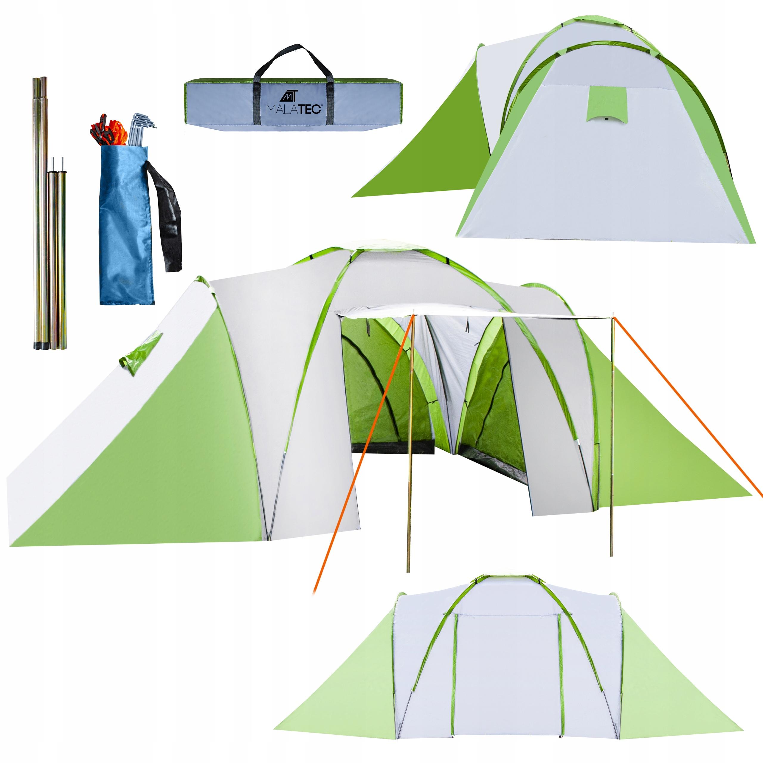 Туристическая палатка 6 человек 3 спальни с прихожей