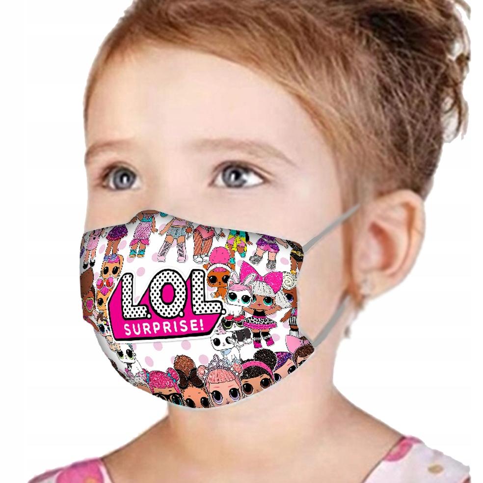 Maseczka Dla Dzieci Lol Surprise Full Nadruk 9197094615 Allegro Pl