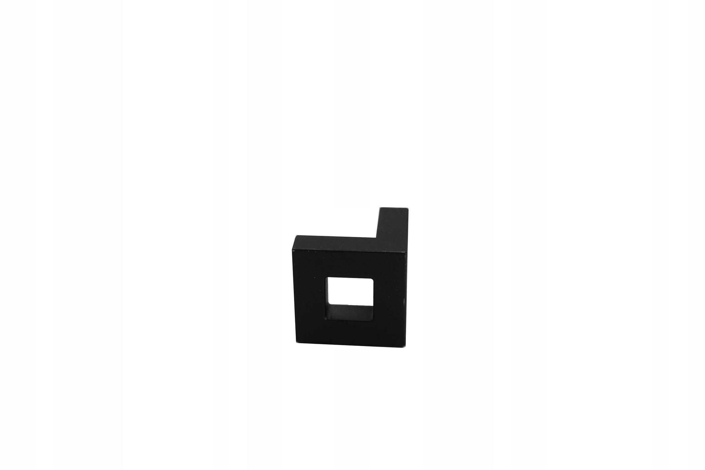 Uchwyt meblowy gałka kwadratowa KWJ L25 czarny mat