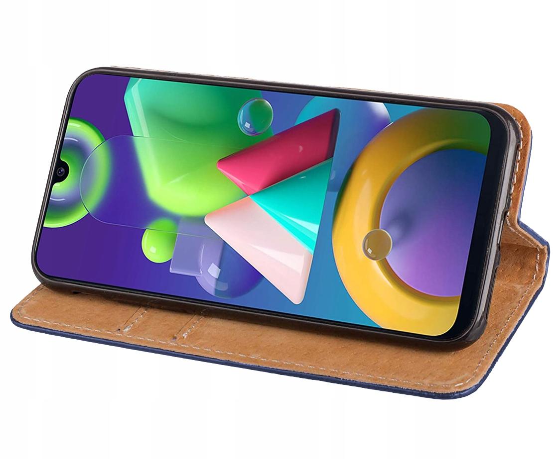 Etui do Samsung Galaxy M21 Skórzane Magnet + Szkło Kod producenta 2A14