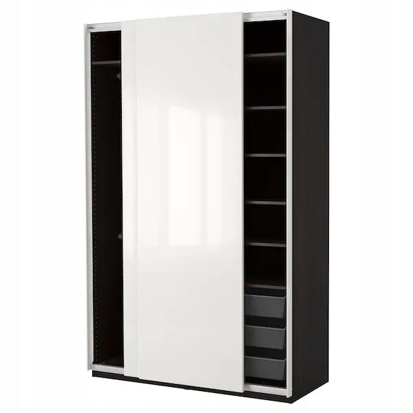 IKEA PAX Hasvik Šatník wenge biela 150x66x236 cm