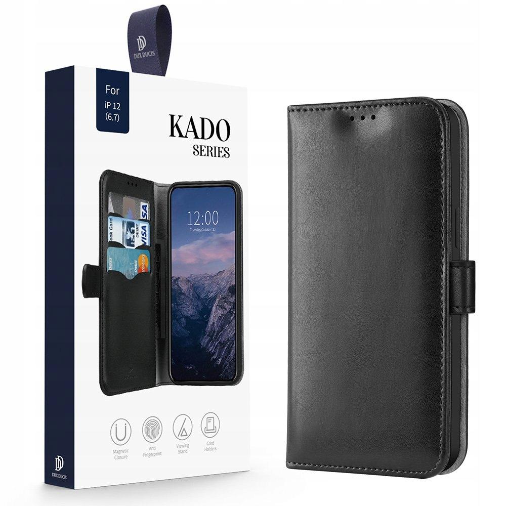 Etui Dux Ducis Kado do iPhone 12 Pro Max czarny Przeznaczenie Apple