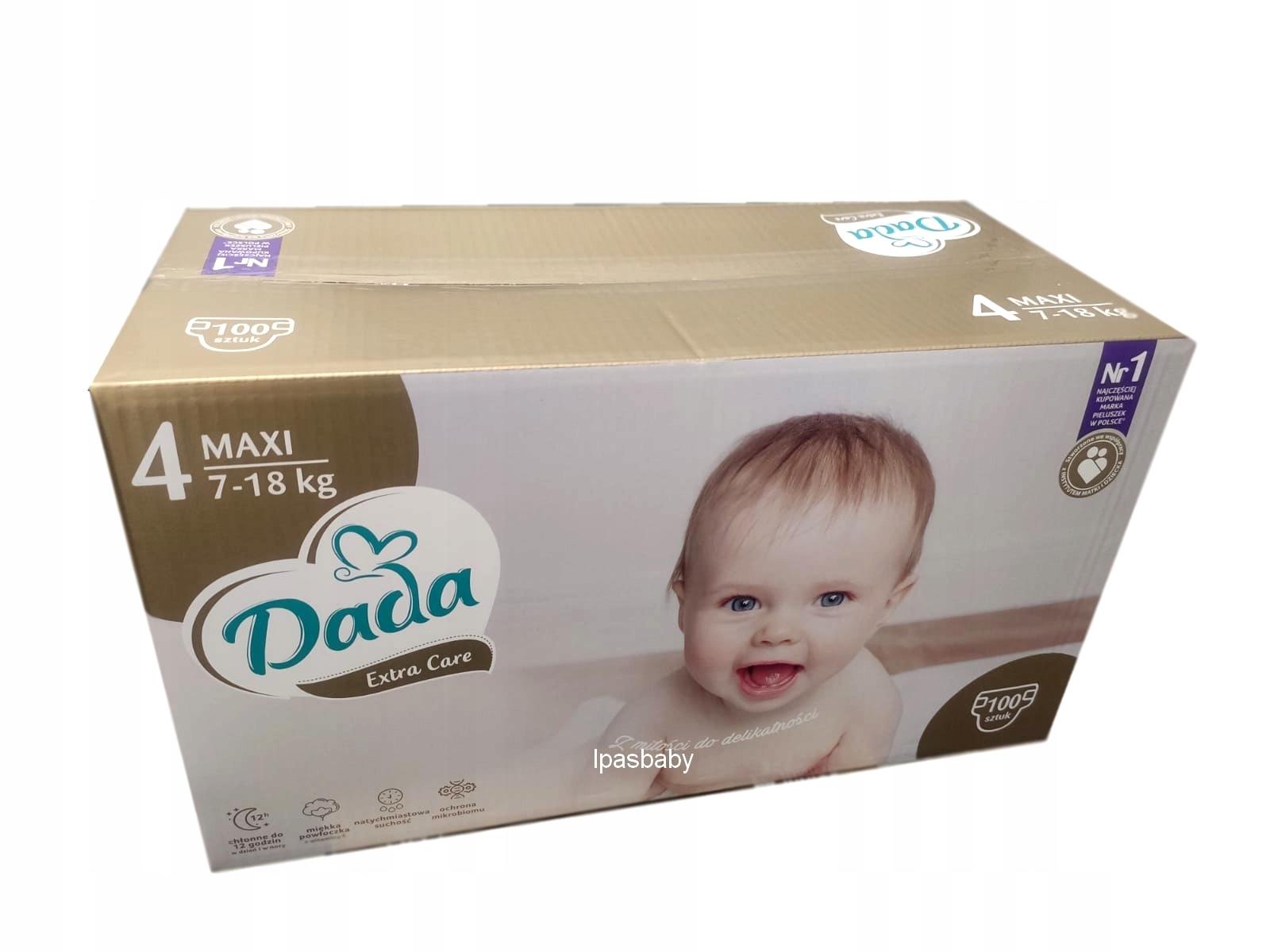 Подгузники Dada Дополнительная помощь 4 MAXI BOX GOLD 100 PCS