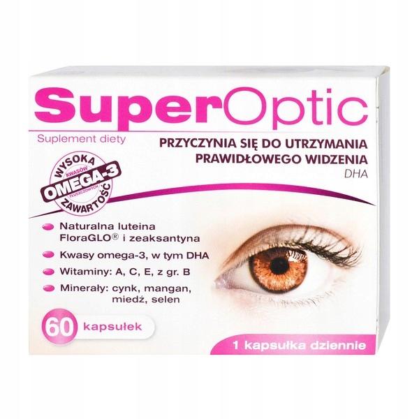 Superoptic Zdrowe Oczy, Luteina, Omega-3 60kaps.