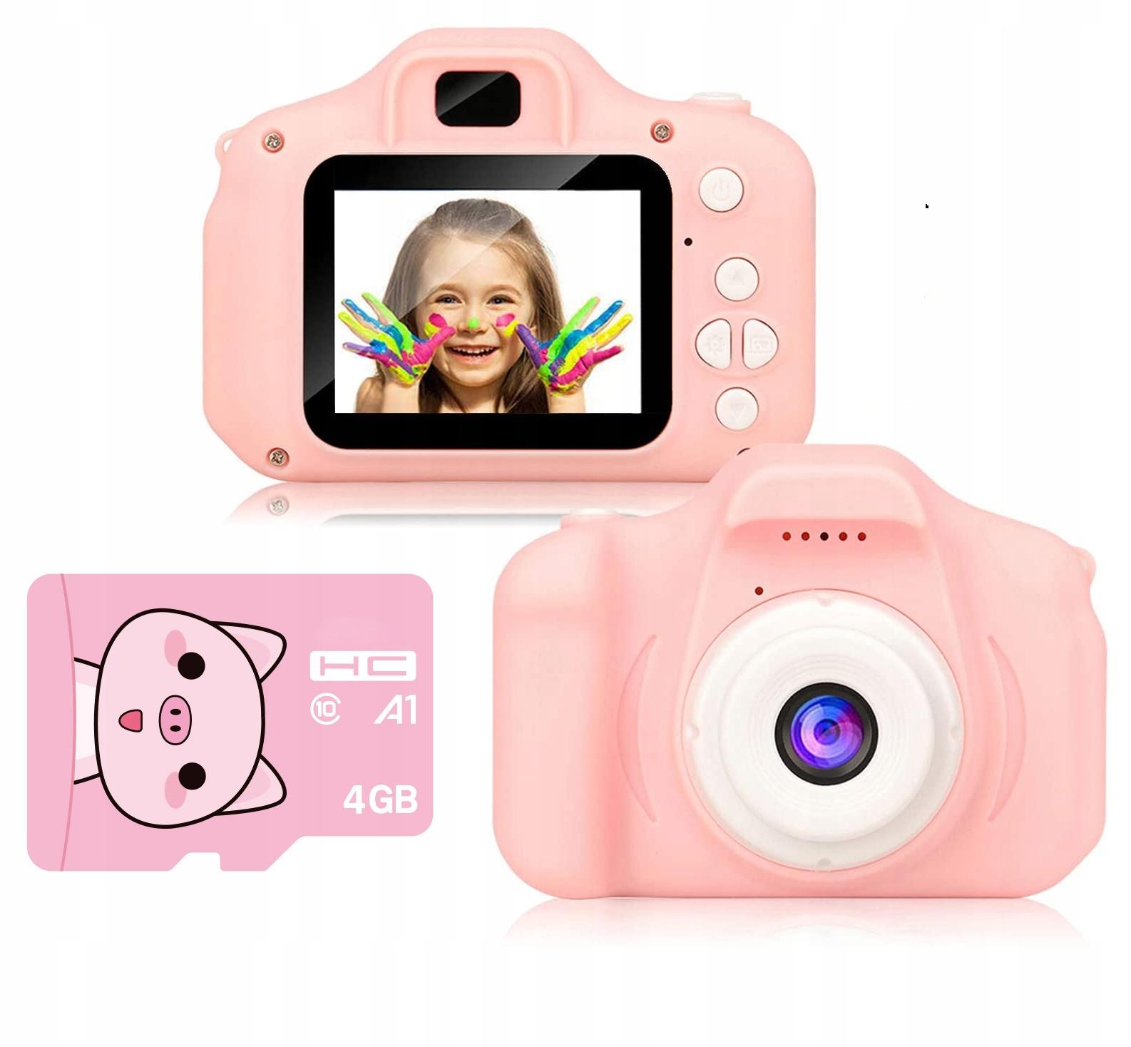 APARAT CYFROWY dla DZIECI FOTOGRAFICZNY+ KARTA 4GB