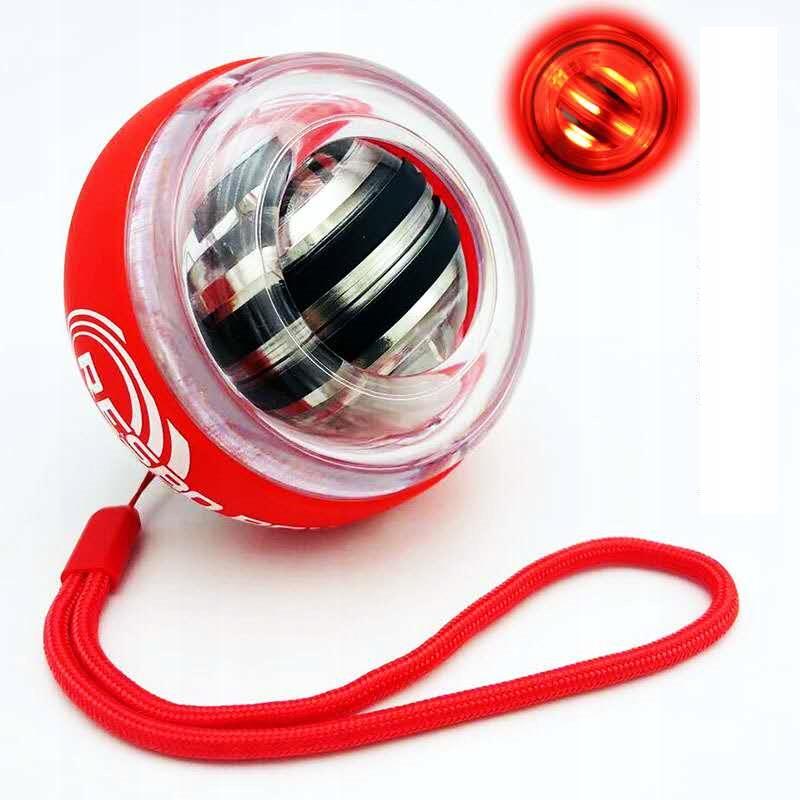 Svietiaca športová fitnes lopta (červená)