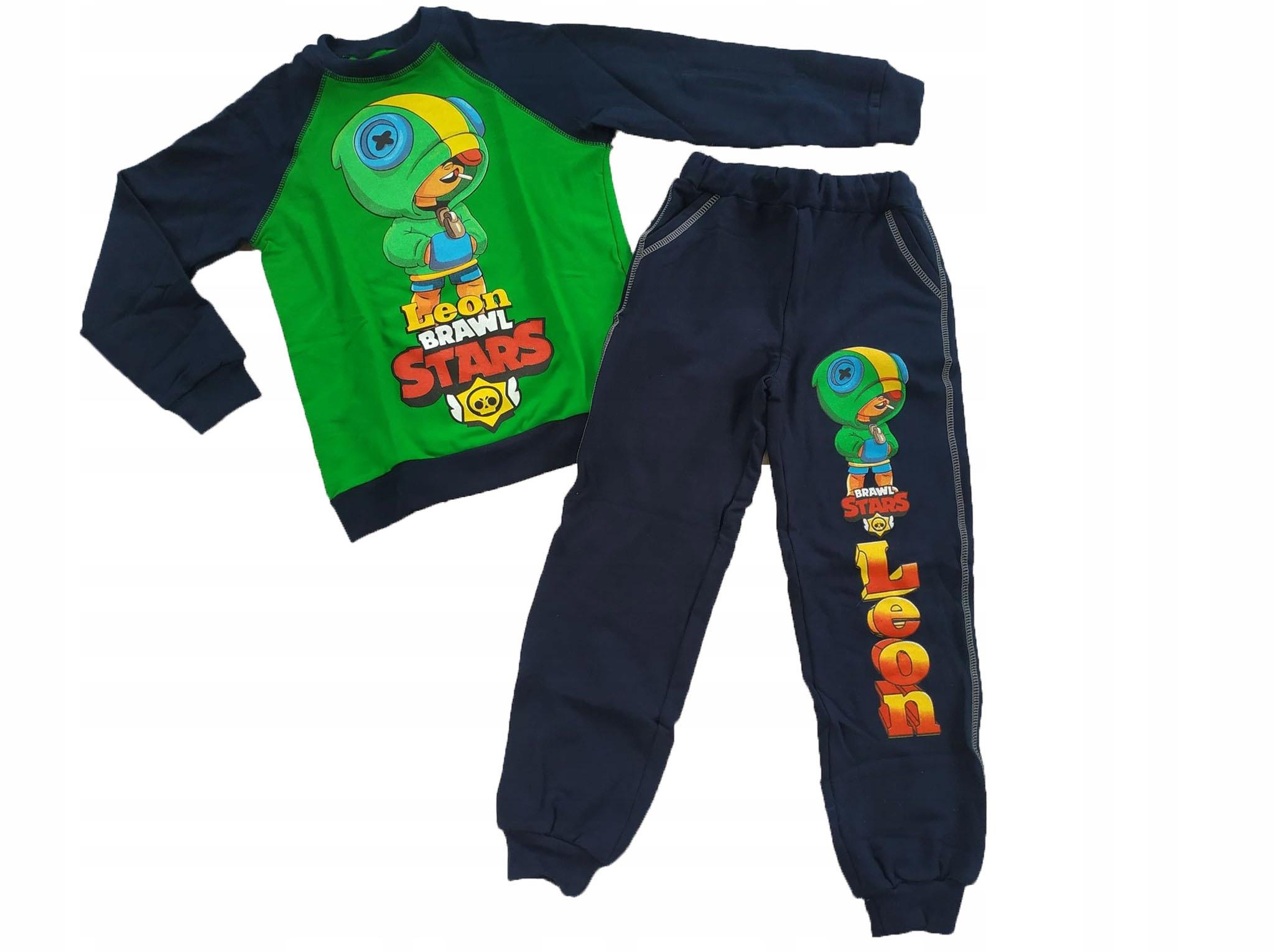 Tepláková súprava tepláková súprava nohavice LEON BRAWL STARS 116 PL