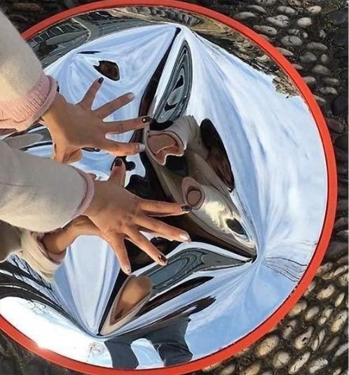 Хранение парковочного дорожного зеркала 60 см Диаметр ручки 60 см