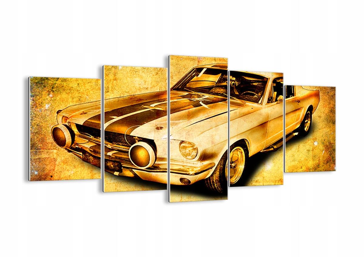 Obraz na okno Auta Mustang Retro GEA160x85-0528