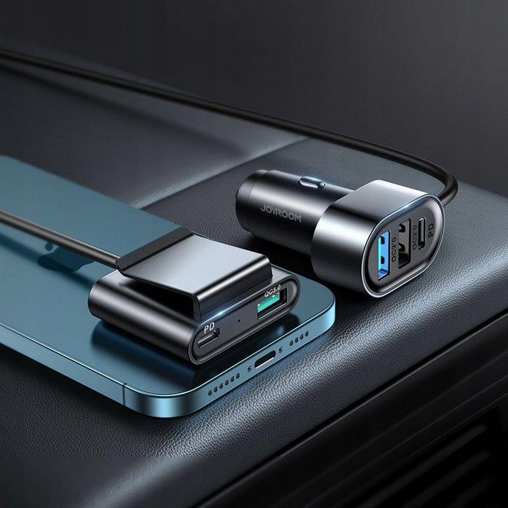 Ładowarka Samochodowa 72W 5-portów USB (JR-CL05) Prąd wyjściowy 75 mA