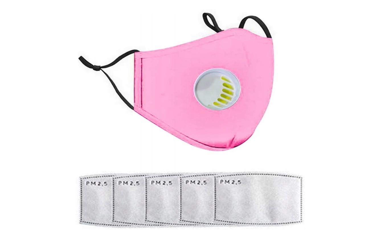 Маска защитная для лица с 5 фильтрами PM2.5