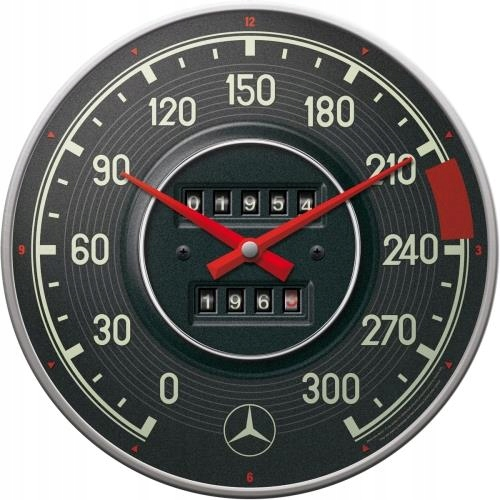 Nástenné hodiny Mercedes-Benz BEAUTIFUL retro tachometer