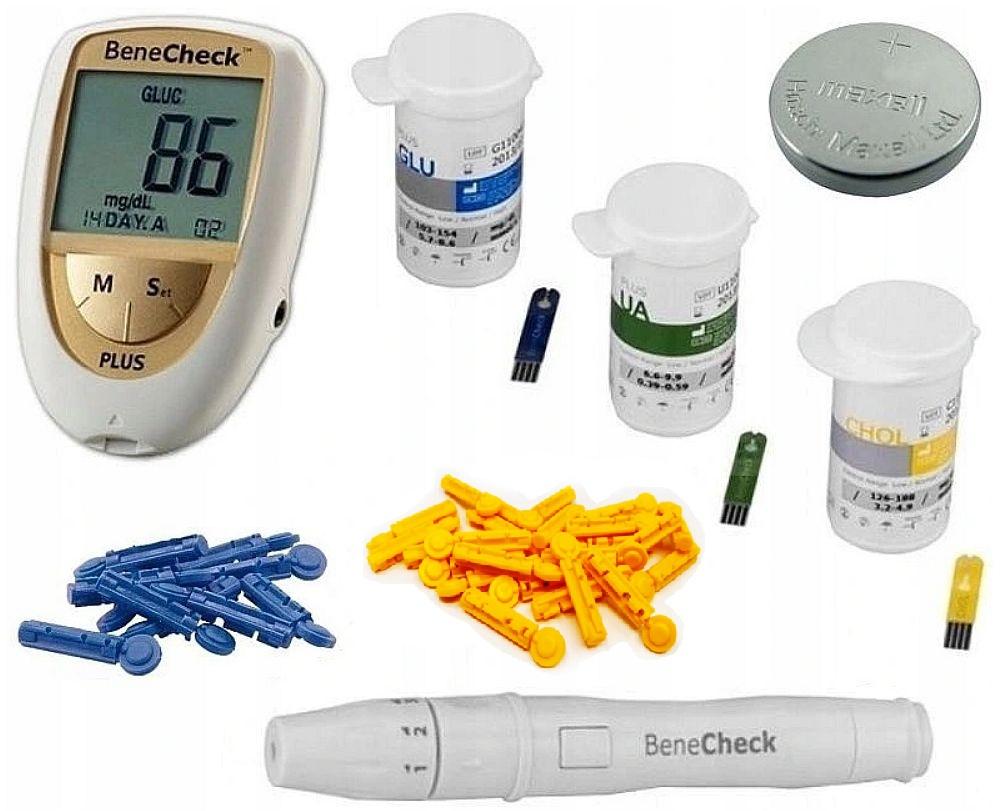 Glukometer Benecheck Cholesterol Meranie + K.MOCZOWY
