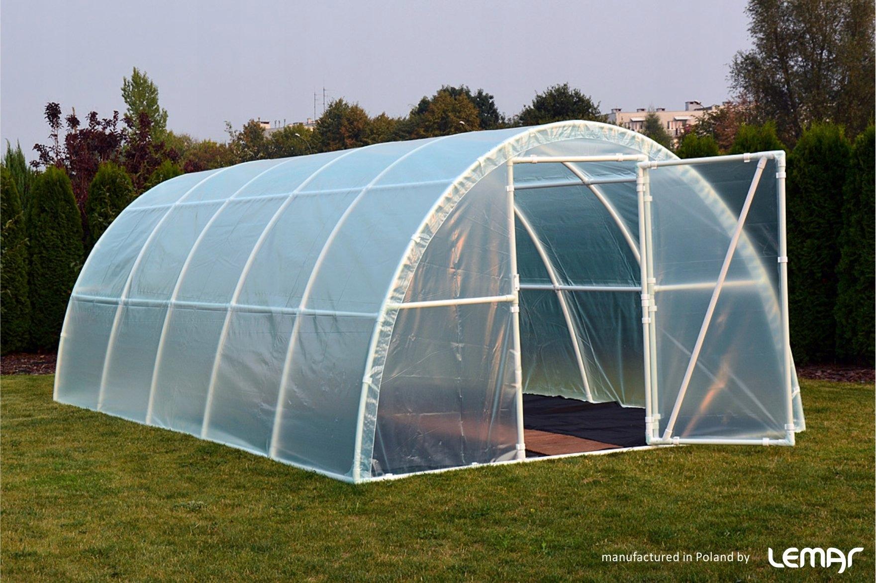 Fóliový tunel Záhradný skleník 10x3 4-sezónna fólia Hmotnosť produktu s jednotkovým balením 120 kg