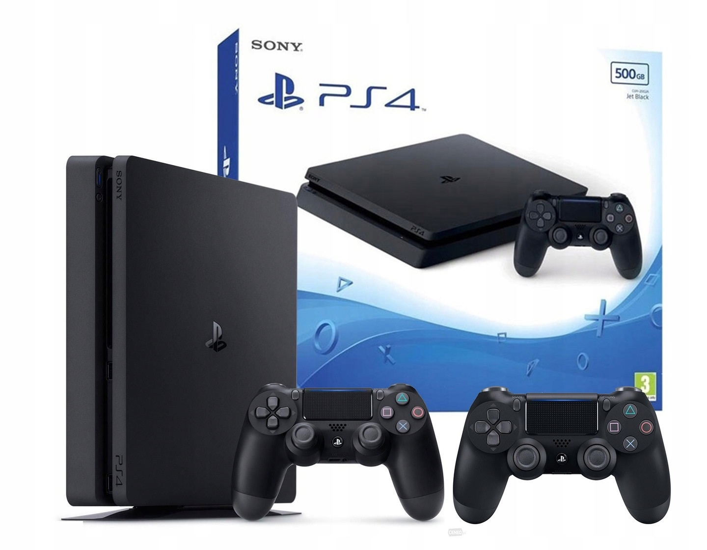 SONY PLAYSTATION 4 PS4 SLIM CONSOLE 2x Pad 500 ГБ