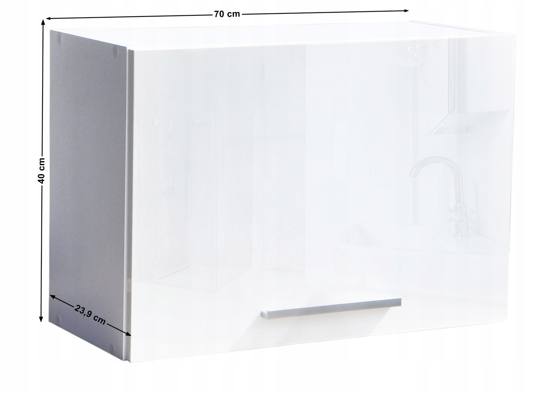 Szafka łazienkowa wisząca klapa połysk 70 Wysokość mebla 40 cm