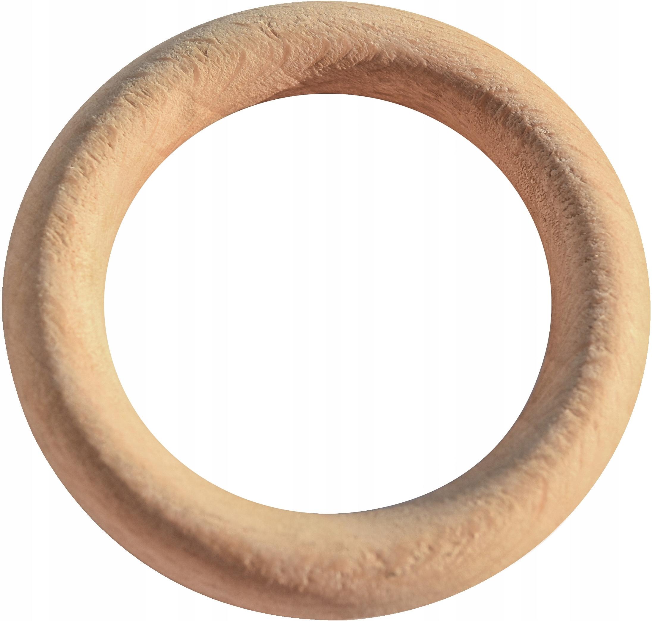 Деревянный круг кругов макраме 55 мм кольцо