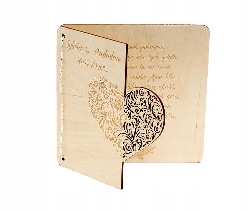 Personalizowany prezent KARTKA ŚLUBNA z życzeniami