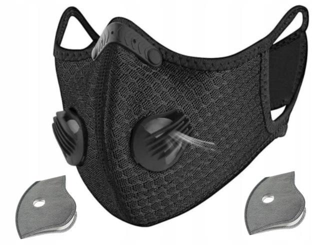 Защитная маска против смога + 2x HEPA-фильтр N99 PL