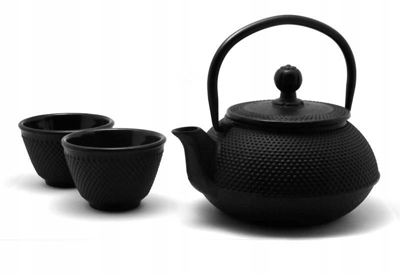 Чугунный чайный сервиз Arare черный [9306001]