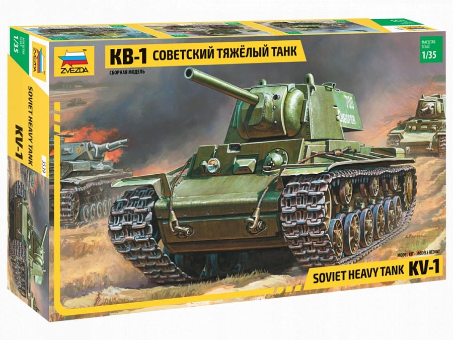 ZVEZDA 3539 KV-1 Soviet Heavy Tank. Ciężki czołg.