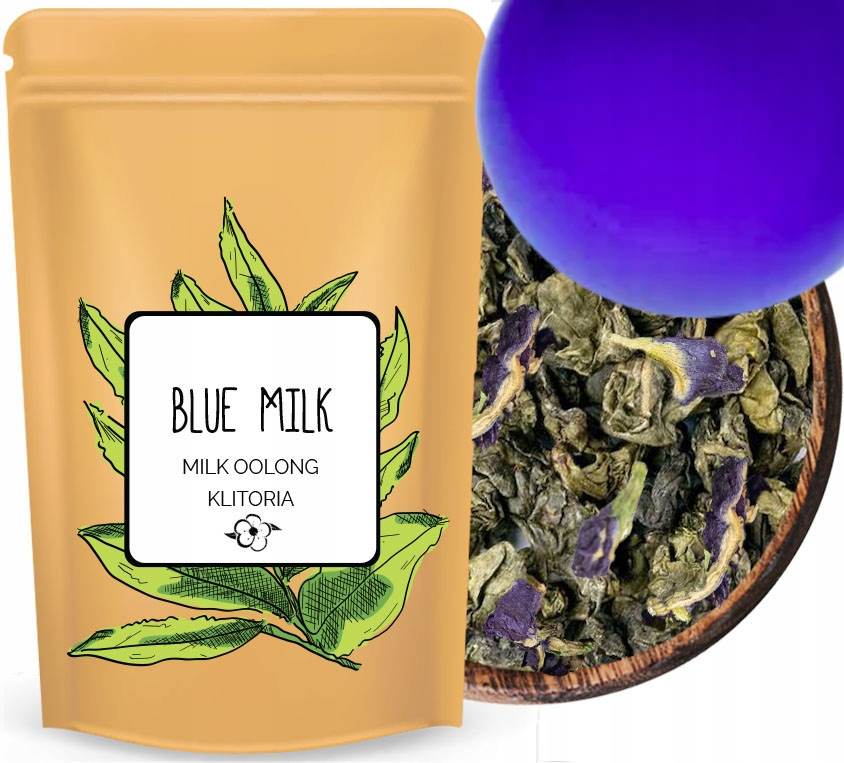 Butterfly Fioletowa mleczna herbata OOLONG KLITORI
