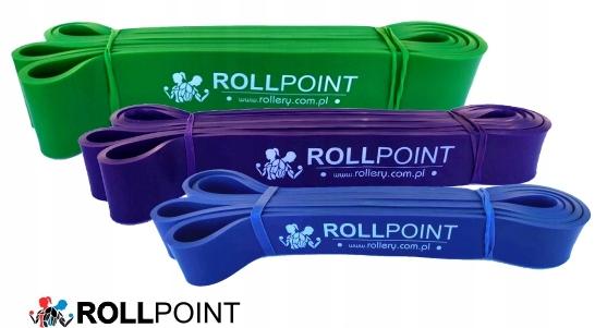 ZESTAW Gumy do ćwiczeń gumy oporowe band ROLLPOINT Kod producenta ROLLPOINT
