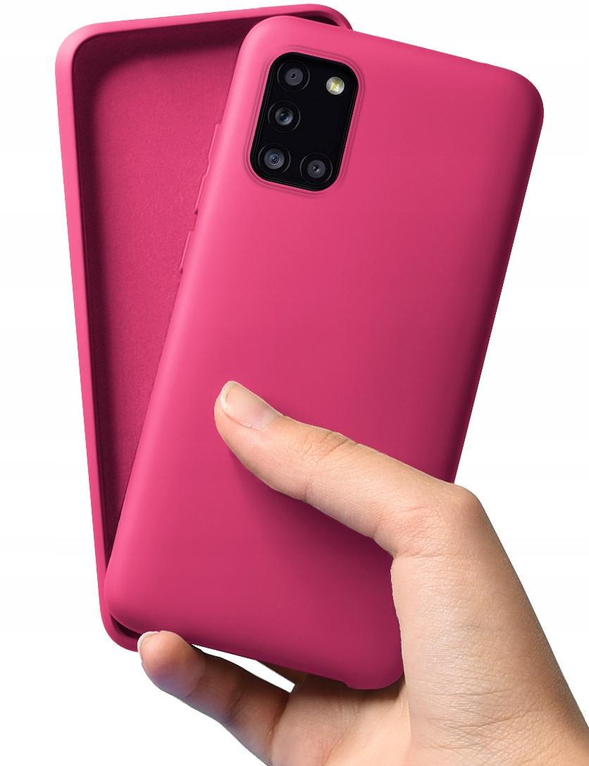 Etui do Samsung Galaxy A31 Case Silikon + Szkło 9H Dedykowany model Samsung Galaxy A31