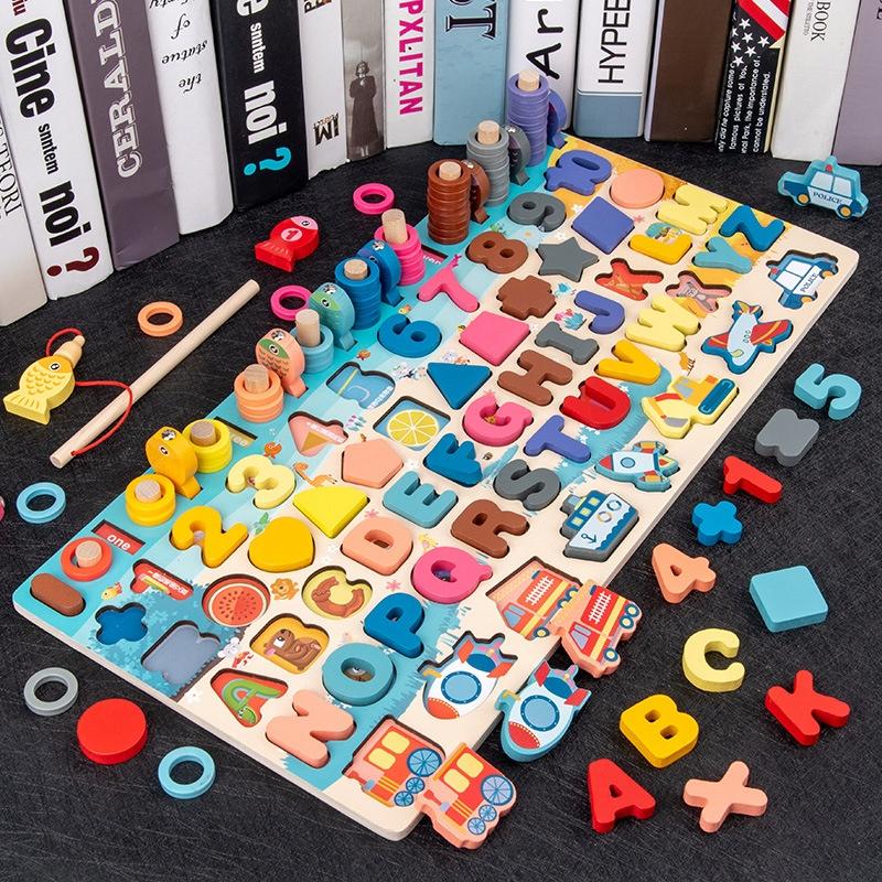 Qwz дети монтессори образовательные деревянные игрушки