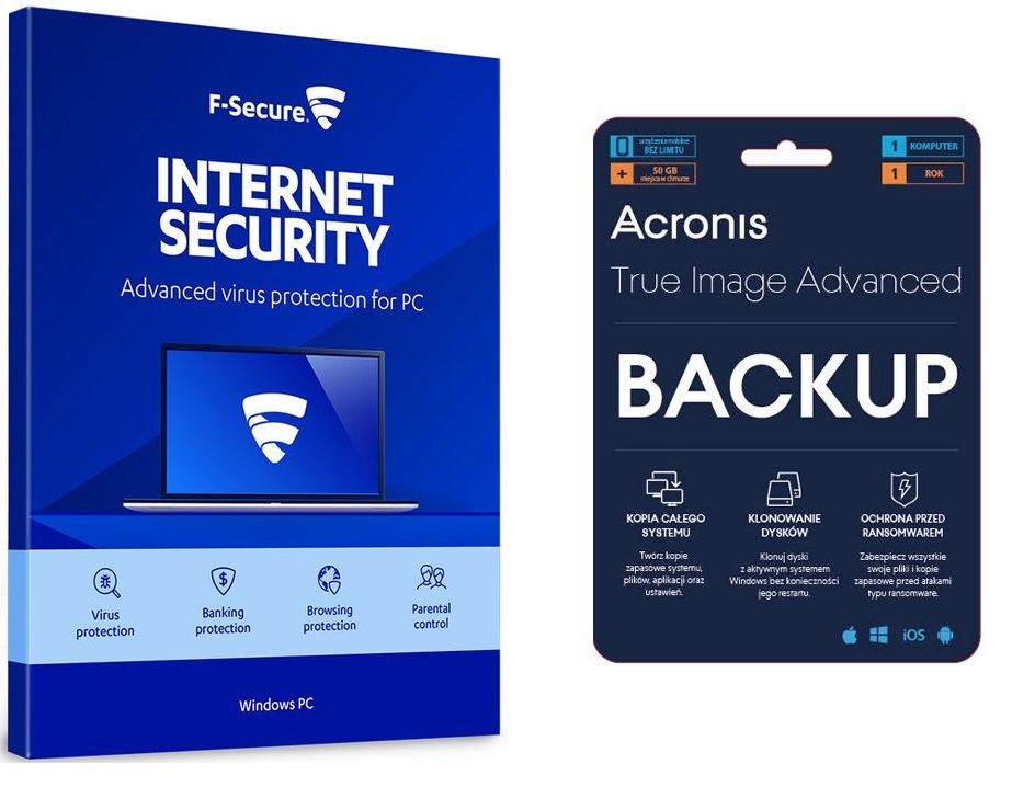 Acronis True Image+F-Secure Internet Security 1rok