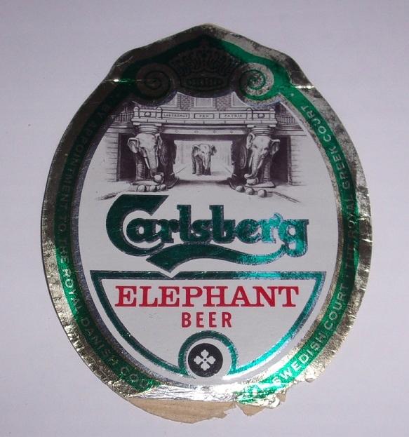 Pivo Label Antique Carlsberg Elephant Beer Elephant