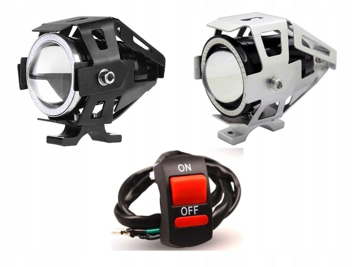 REFLEKTOR LAMPA LED CREE U7 RING MOTOCYKL 2szt