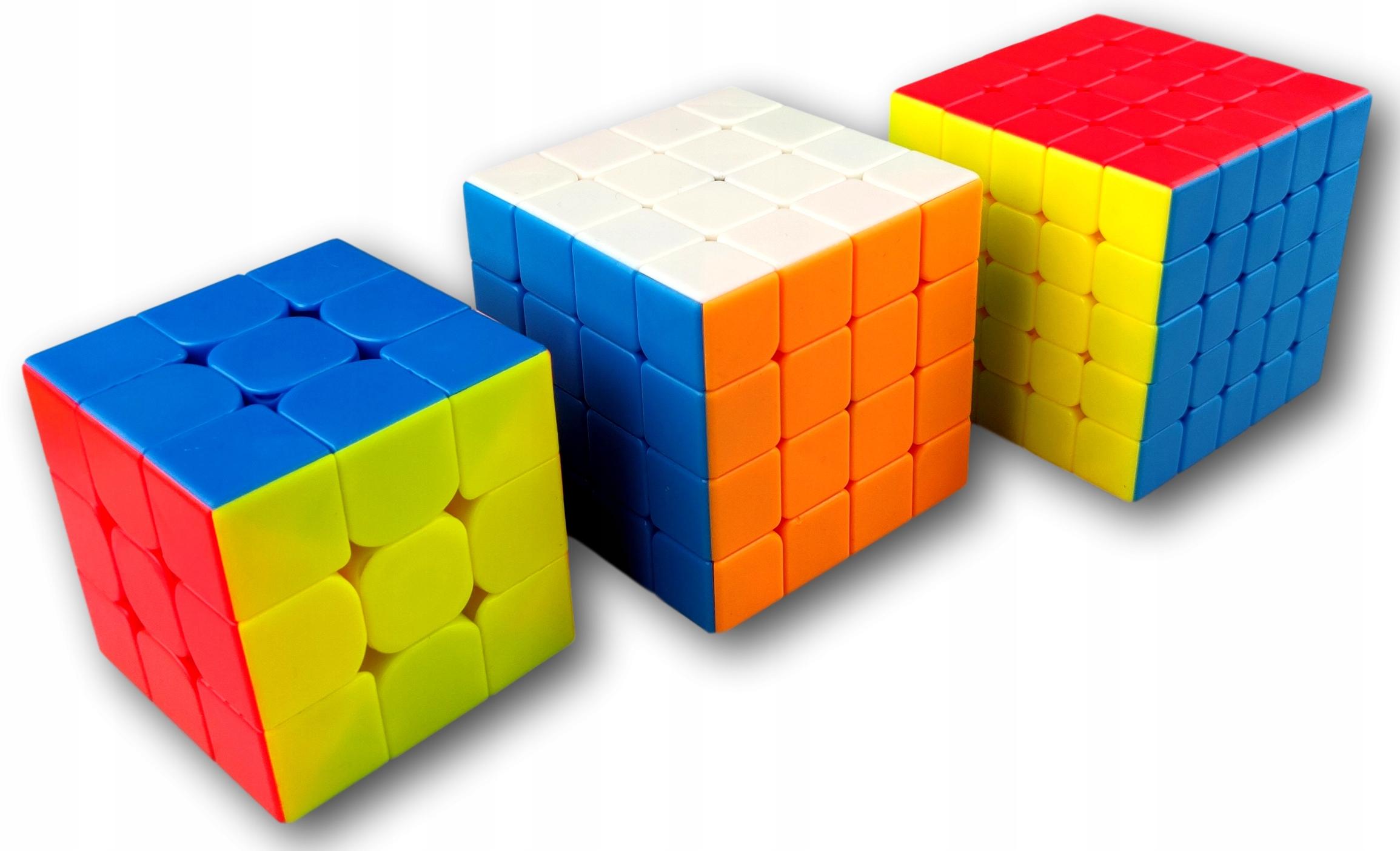 Rubikkova kocka 3x3x3 4x4x4 5x5x5 SADA KOSTIEK 3v1