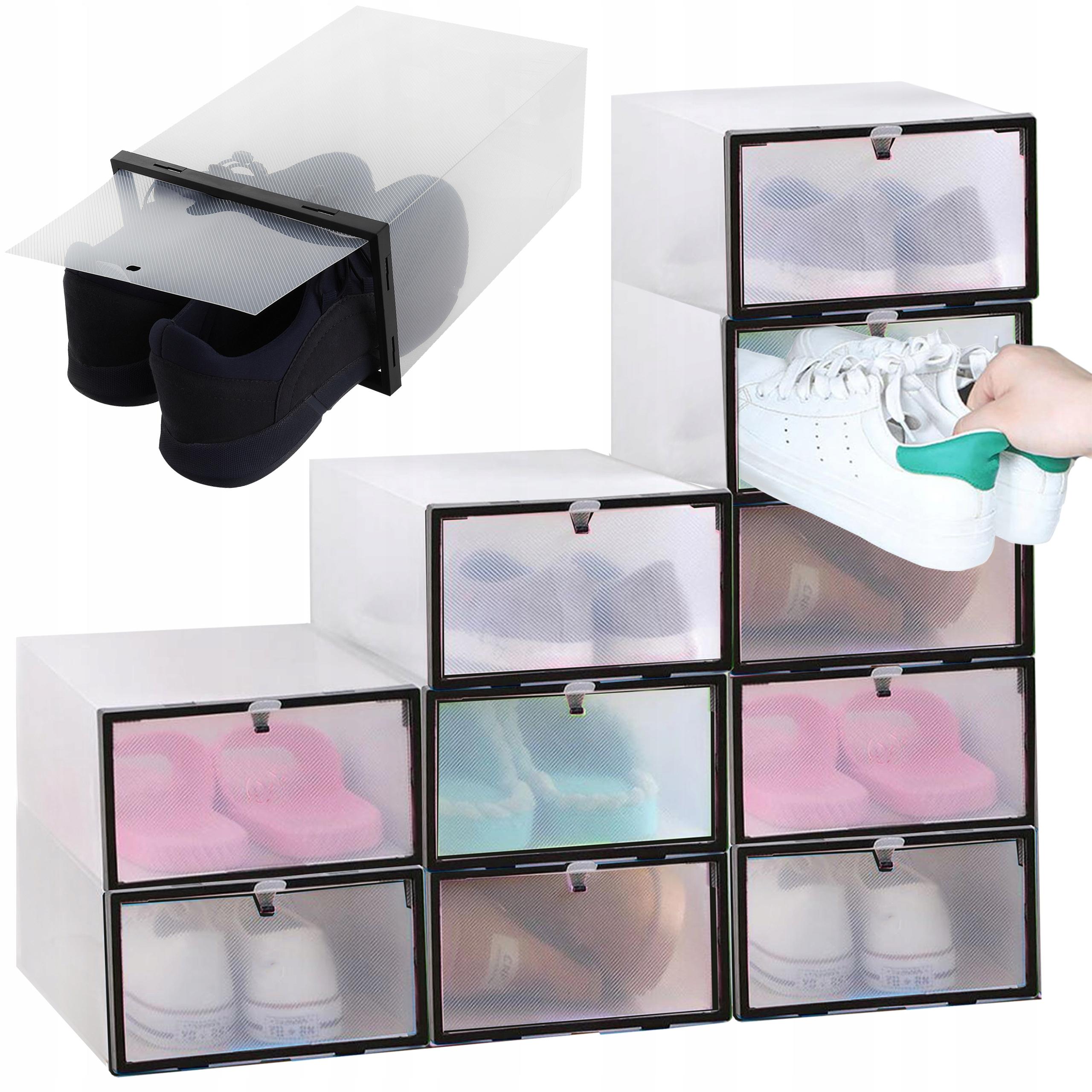 10 x Контейнер-органайзер для обуви с клапаном