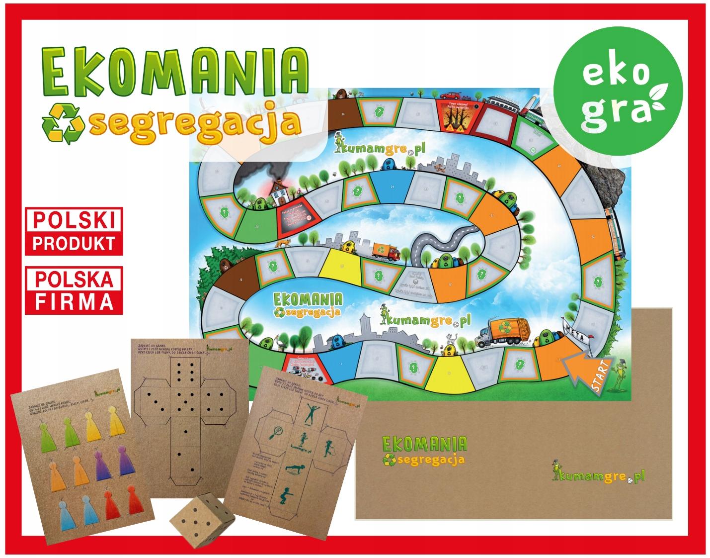 eko gra kopertowa dla dzieci EKOMANIA segregacja