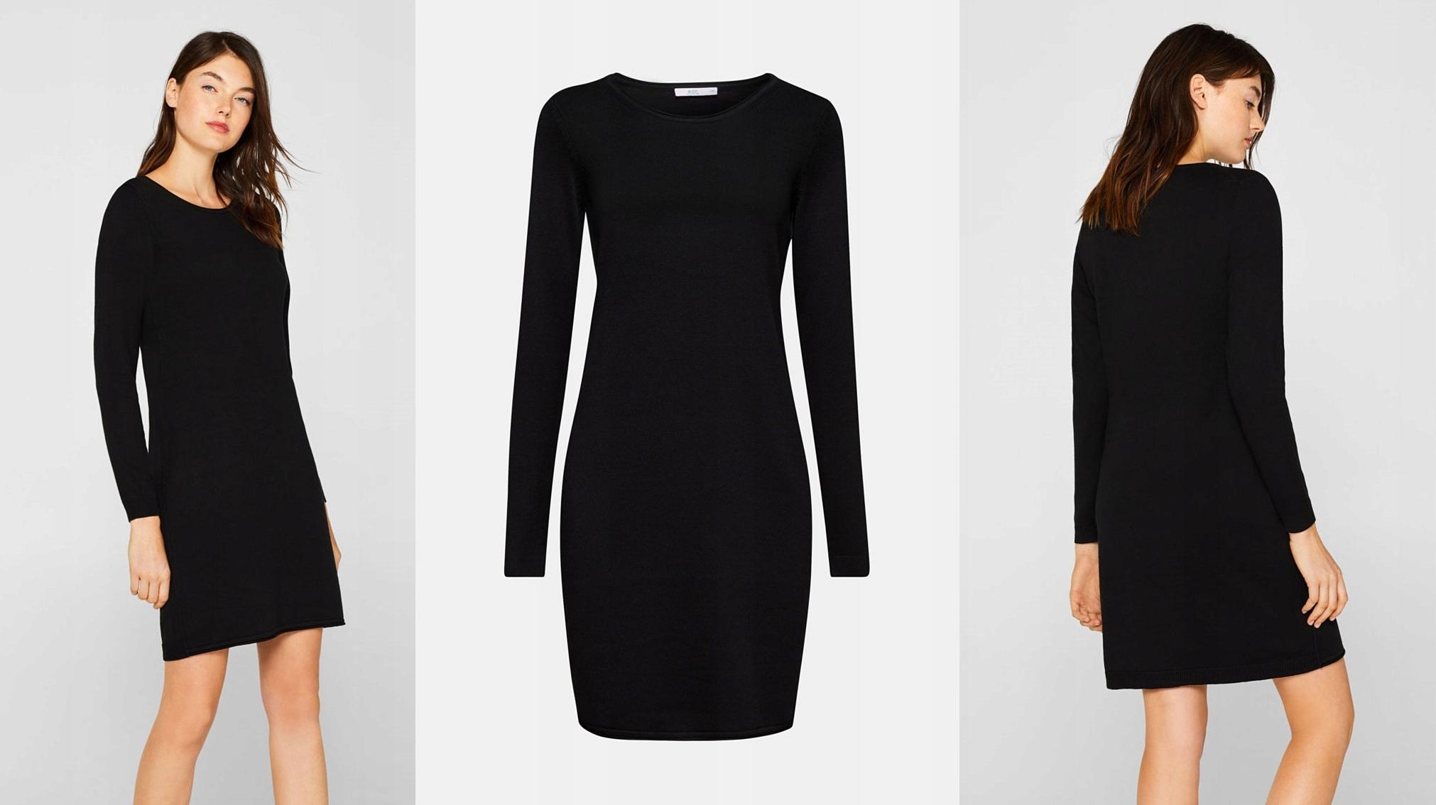 Esprit Edc Dzianinowa Sukienka Długi Sweter Xs