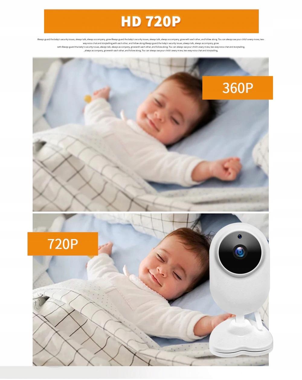 Elektroniczna Niania zdalna obserwacja dziecka Funkcje kamera termometr tryb nocny zdjęcia inne