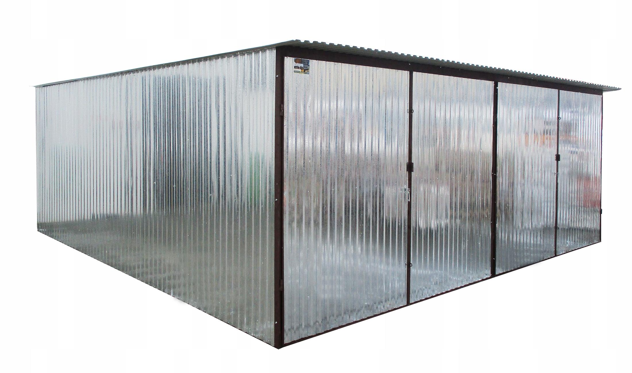 Металлические Гаражи 6х5 Металлические Гаражи Двойная оцинкованная сталь