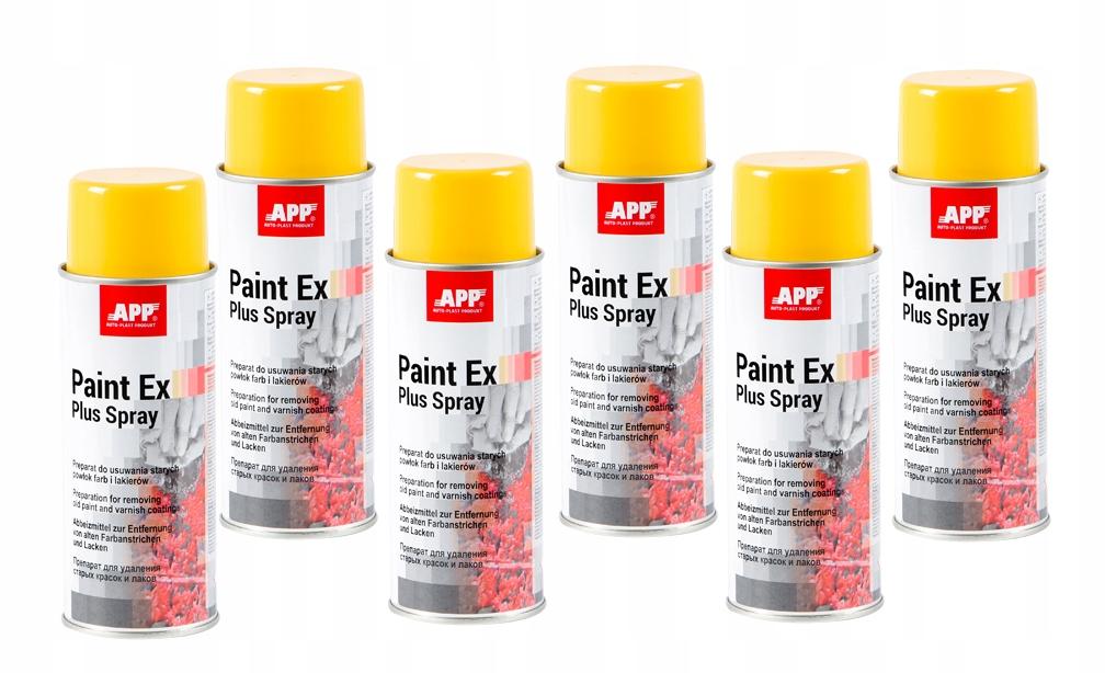 APP Paint Ex Plus DO USUWANIA POWŁOK LAKIERU x 6sz