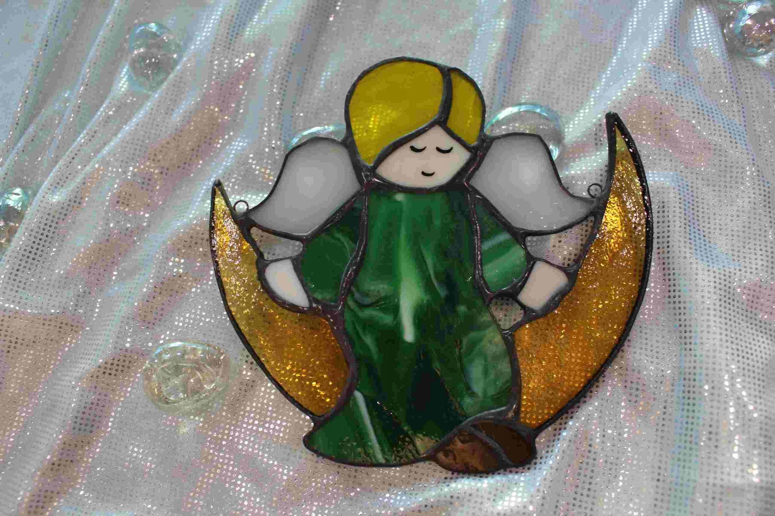 Ангел на Луне подарок ангел СЗ крещение