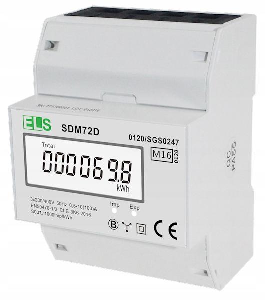 Купить 3-ФАЗНЫЙ ЖК-счетчик энергии, 3-ФАЗНЫЙ 100А MID SDM72 на Otpravka - цены и фото - доставка из Польши и стран Европы в Украину.