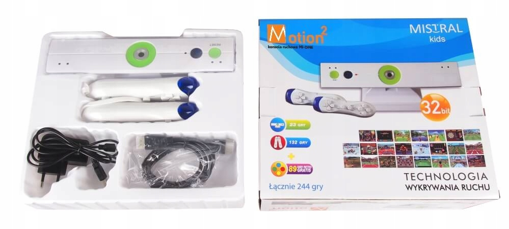 MOTION TELEVISION GAME CONSOLE 244 ИГРЫ MISTRAL EAN 5908313151257