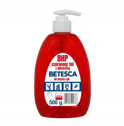 BHP красный гель с глицерином для мытья рук Betesca