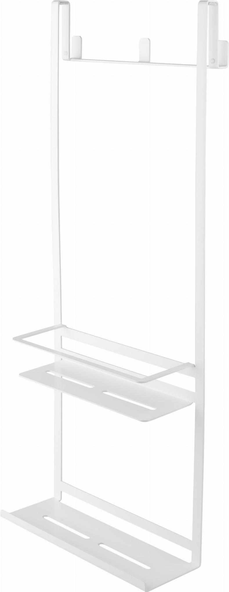 Závesná polica pre sprchovací kút 300x760x143 mm, BIELA