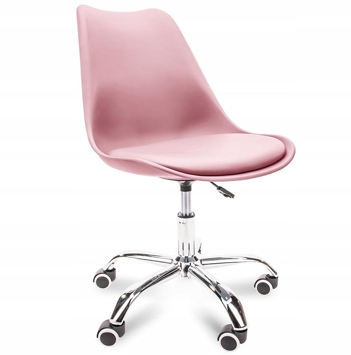 Krzesło obrotowe biurowe fotel RÓŻOWY KONSIMO